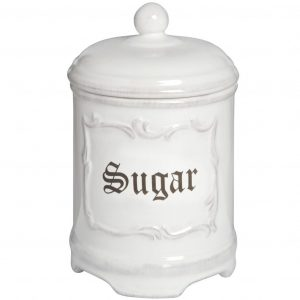 Sugar Cannister in White