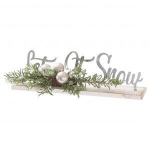 Noel Collection Let It Snow Table Sign