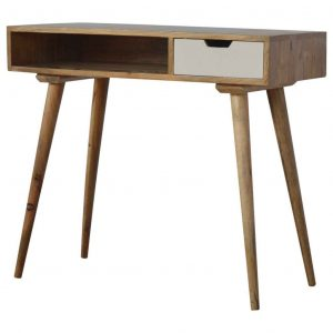 Writing Desk with Grey Hand Painted Drawer
