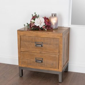 The Draftsman Collection 2 Drawer Bedside Table