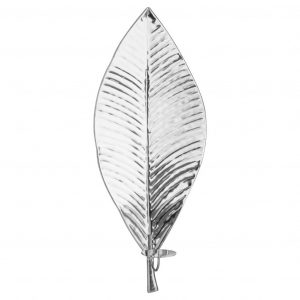 Silver Leaf Wall Hanging Candle Holder