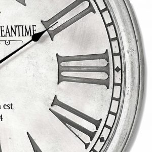 Greenwich Meantime Grey Wooden Wall Clock