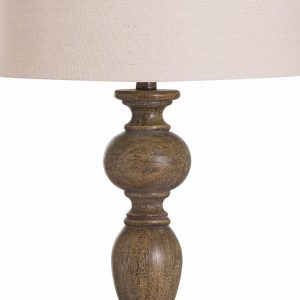 Luca Table Lamp with Natural Shade